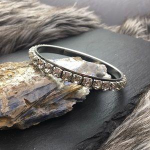 Rhinestone bangle bracelet | Large